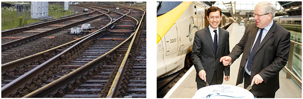 A railway and a minister, yesterday