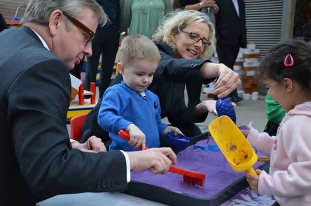 Michael Gove with the Chief Social Worker for Children