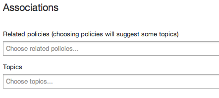 Topics tagging UI