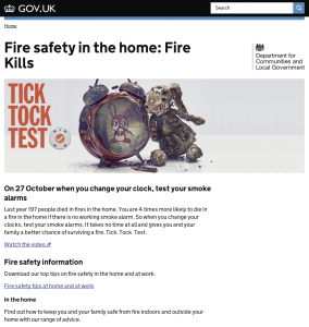 The Fire Kills landing page