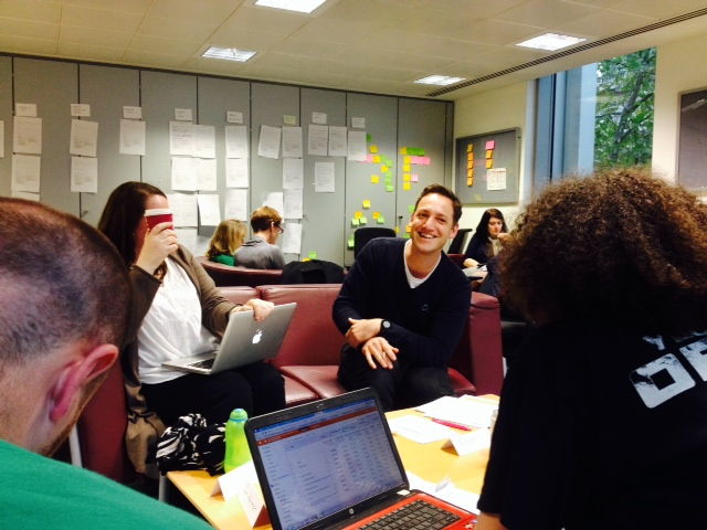 The Department for Education digital team at work during their user needs workshop