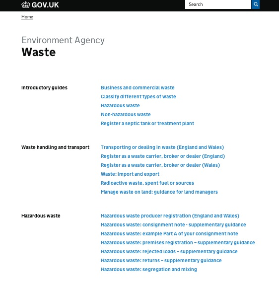 Waste topic page