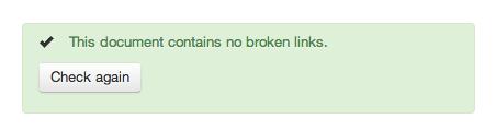 All clear - no broken links