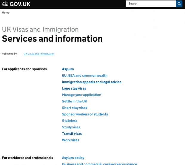 UKVI - services and info model 1