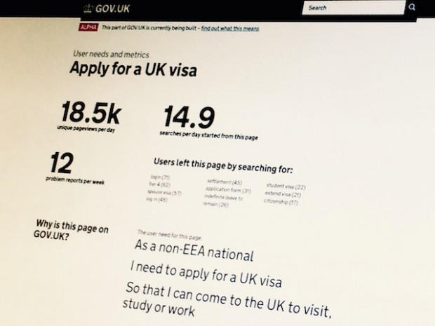 "Image of the ""Apply for a UK Visa"" info page"