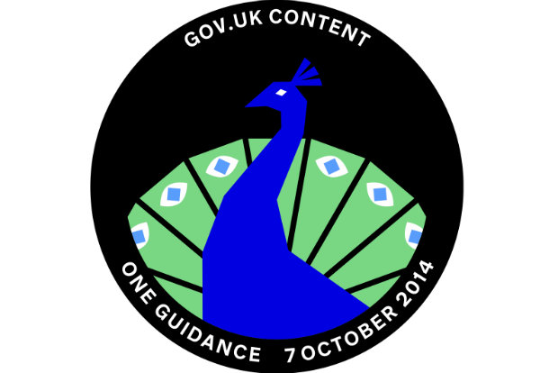 Mission patch for the One Guidance project - a peacock