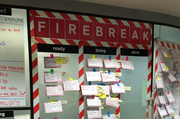 "The ""Firebreak"" wall at GDS"