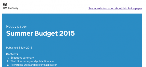 The HTML version of the Summer budget 2015