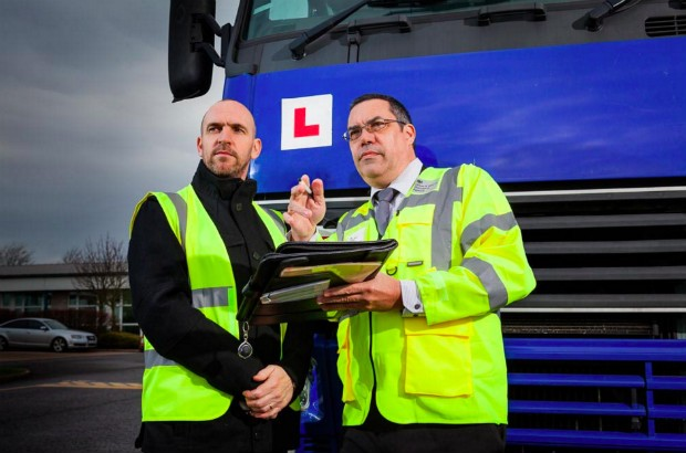 Lorry driving test