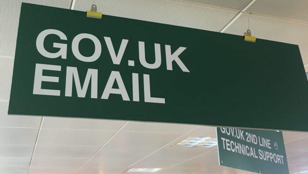 GOV.UK email sign