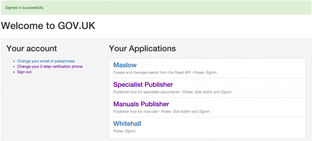 Specialist Publisher screen shot
