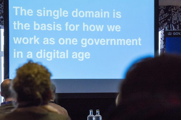 The single domain is the basis for how we work as one government in a digital age