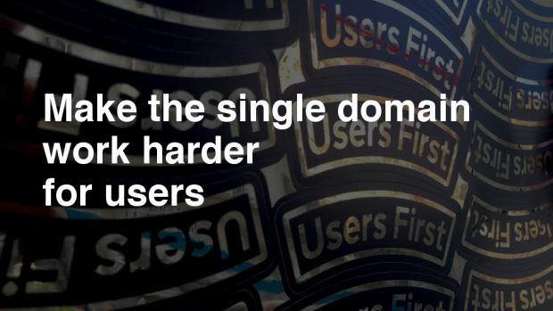 Make the single domain work harder for users