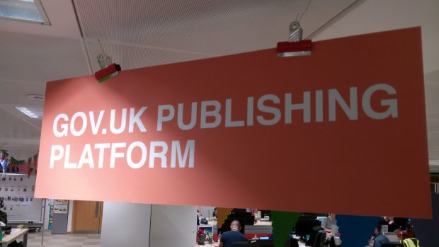 GOV.UK Publishing Platform sign