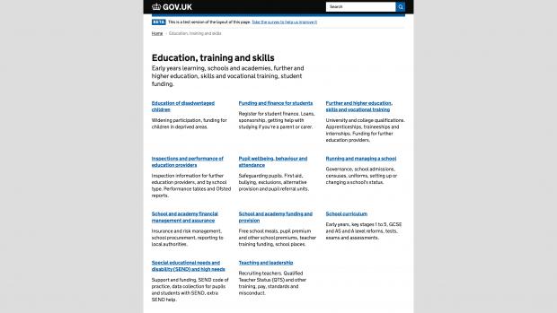 Find edu and gov blog