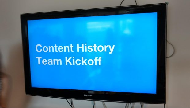 Content History team kickoff