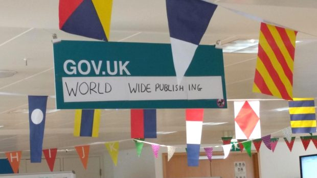GOV.UK Worldwide Publishing sign