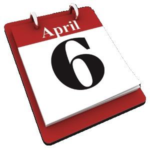 6 April calendar date