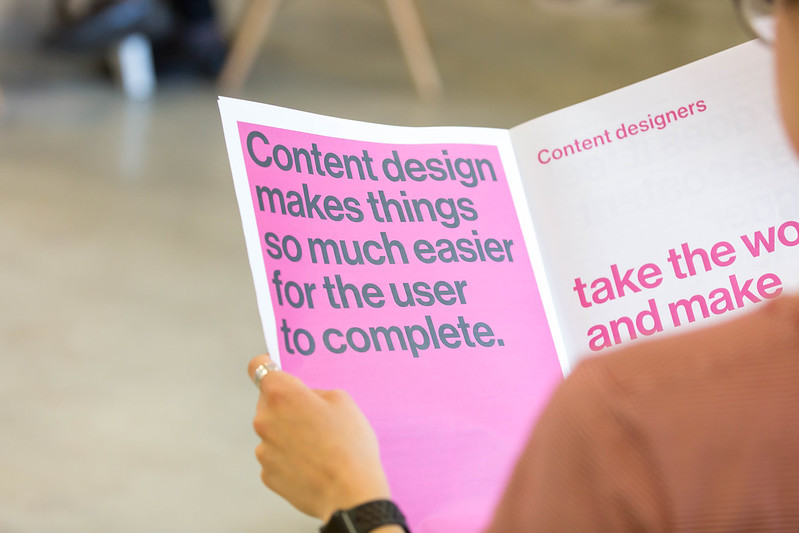 Moving into content design